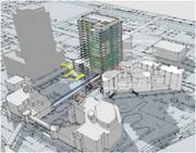 A new tower for the Broward County Courthouse would be next to the Wave's route on Andrews Avenue.