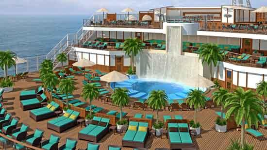 A depiction of the Serenity area on the refubished Carnival Sunshine.
