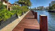 The dock behind 2900 N.E. 37th St. in Fort Lauderdale