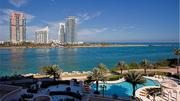The pool at Fisher Island's Palazzo Del Mare.
