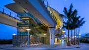 Excellence in Architecture award winner Perez & Perez Architecture Planners for the Miami International Airport MetroRail Station.