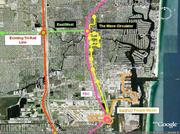The Wave could link to existing and future transportation links, including shuttle service to Tri-Rail along Interstate 95, potential commuter service on the Florida East Coast Railway and the FEC's All Aboard service to Miami and Orlando.