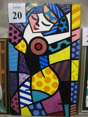 Another painting signed Romero Brito.