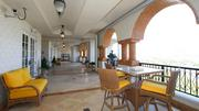 The large outdoor space of the penthouse.