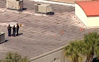A still of a WPTV.com video shows the shooting scene on the roof of the Research Park at Florida Atlantic University.