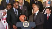 """LeBron James said of being at the White House, """"This is like, hey, mama, I made it."""""""