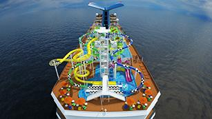 An artist's rendering of the Carnival Sunshine, which will set sail in April 2013.