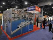 A display publicizes cruising opportunities in Croatia.