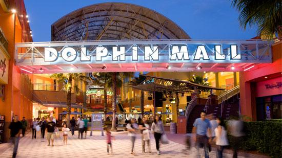 Miami-based Dolphin Mall has 240 retailers.
