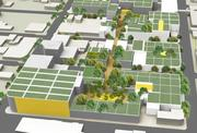 Green roofs with gardens and trees is being proposed for the Design District project.