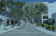 A concept for Northeast 40th Street shows more mature trees.