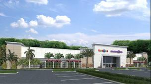 "A rendering of the new side-by-side Toys""R""Us and Babies""R""Us in Royal Palm Beach."
