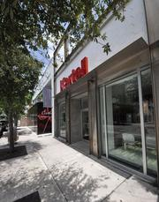 The Kartell modern furniture store is directly in the path of the planned pedestrian walkway. Under the mall plan, the building would be demolished and the store would relocate.