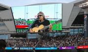 Jose Feliciano sang the national anthem.