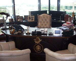 The desk where Rothstein sat while running his $1.2 billion Ponzi scheme.