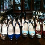 A sample of Kim Rothstein's shoes ranging in estimated price from $900 to $2,000.