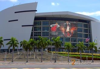 American Airlines Arena, home of the Heat.