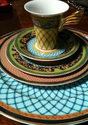 A Versace designed dish set that belonged to Kim and Scott Rothstein.