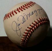 An baseball autographed by Joe DiMaggio that belonged to Scott Rothstein.