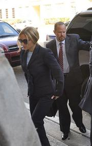 Kim Rothstein arriving at her guilty plea hearing on Feb. 1.