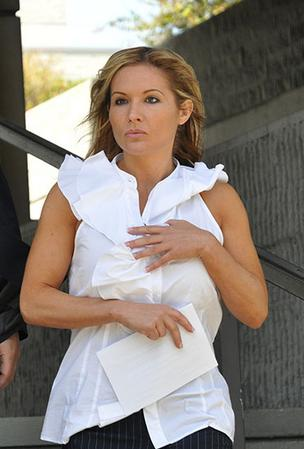 Kim Rothstein leaving the federal courthouse in Fort Lauderdale.