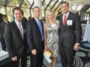Scott Garvis, honoree from Dale Carnegie; Rick Thill; Shannon Clay; and Brian Clay, honoree from Bank United.