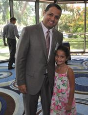 Honoree David Barbeito of Morrison Brown Argiz & Farra with his daughter Madison Barbeito age 6.