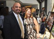 Honoree Javier Betancourt of Miami Downtown Development Authority and Tiffany Betancourt .