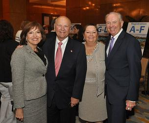 Alice Lucia of Jones Lang LaSalle, H. Wayne Huizenga of Huizenga Holdings, Marti Huizenga and Mike Jackson of AutoNation