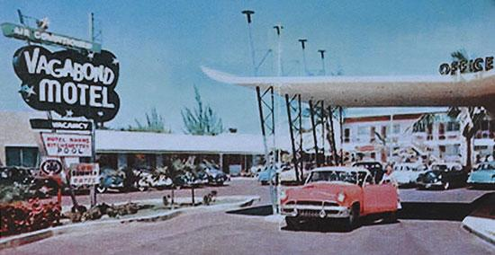 The Vagabond Motel in the 1950's.