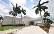 The Lynn University gym will be transformed into a media center where hundreds of journalists will file their stories.