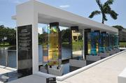 Lynn University has a memorial to the four students and two professors that died in the Haiti earthquake.