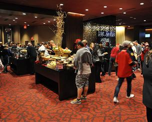 Attendees at the CFO Awards VIP reception got a taste of the amenities at the BB&T Center's Club Red, which offers all-inclusive packages for members.