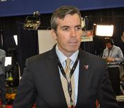 Romney adviser Kevin Madden speaks with reporters prior to the debate.