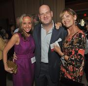 Jessica Roof, of the South Palm Beach Jewish Federation, with Startup category finalist Marc Falsetto, owner and founder of Rok Brgr, and Renee Falsetto.
