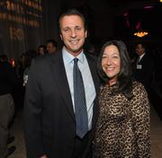 Steve Fassberg, founder and CEO of the Original Brooklyn Water Enterprises, a finalist in the Product of the Year category, and his wife, Michele.