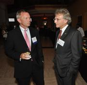 Evan Rees of Capital Bank and Mitchell Berger of Berger Singerman, a finalist in the $50 million-plus category.