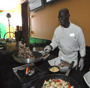 Chef Samson Candio kept the guests well fed with his pasta dishes.