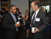 James Potes of Chase and Bill Woodford of Auxis, which was the 20th fastest-growing technology company.