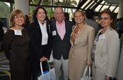 Kathy Cruz and Jackie Cassaday of Gunster with Andrew Zerbock and Jennifer Showers of USI and Maria Bermudez of Gunster.