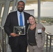 Honoree Jaret Davis of Greenberg Traurig and Melanie Dickinson, president and publisher of the South Florida Business Journal.