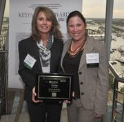 Honoree Cindy Kushner of Crowe Horwath and Melanie Dickinson, president and publisher of the South Florida Business Journal.