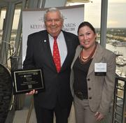 Honoree Thomas Workman of Thomas C. Workman & Associates and Melanie Dickinson, president and publisher of the South Florida Business Journal.