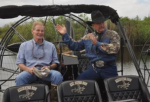 Sen. Bill Nelson  and Ron Bergeron ready to head out on the hunt.