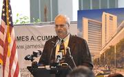 Chief Judge Peter Weinstein of the 17th Judicial Circuit, Broward County makes remarks at the groundbreaking.