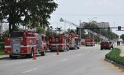 The Texaco station fire had 17th Street Causeway closed to traffic.