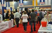 The crowd at the American Food & Beverage Show held at the Miami Beach Convention Center.