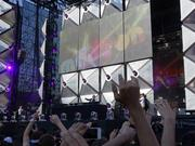 Newcomer French DJ Madeon performs on the main stage for the first time. He's only 18 years old!