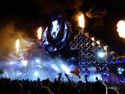 Armin Van Buuren lights up the stage.