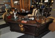 Scott Rothstein's desk, ready for sale at a bankruptcy auction.